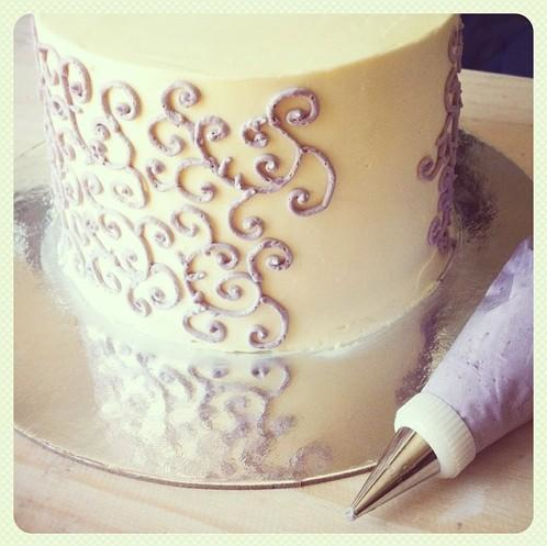 In Process: Piping Buttercream Decoration