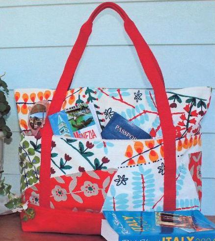 Patterned Travel Bag, Pattern on Bluprint