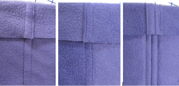Three Seams in Fleece