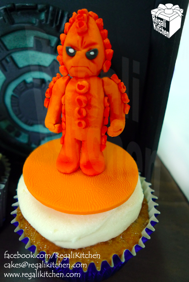 Zygon-Shaped Sculpted Cake