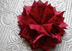 Red Quilted Home Decoration