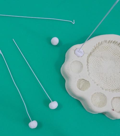Adding Wires to Gum Paste Flower Centers