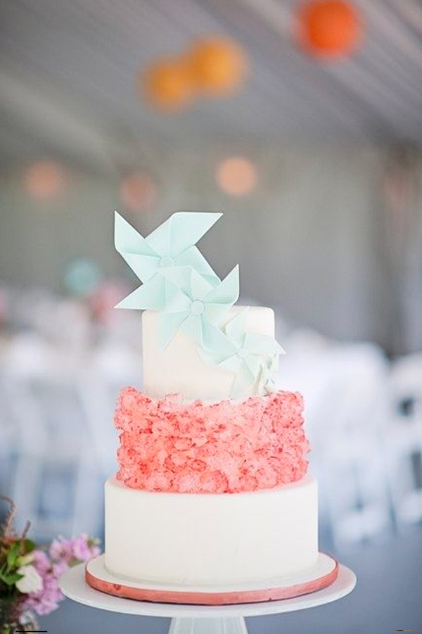 Tiered Cake with Pinwheels