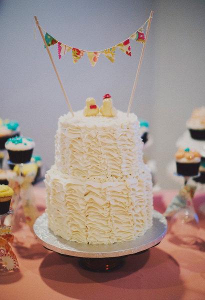 ruffled butter cream cake
