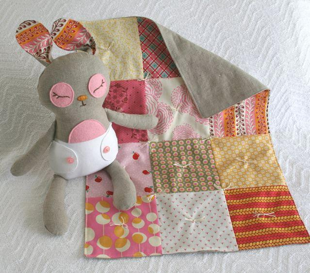 Bunny Stuffed Animal and Doll Quilt - Pattern