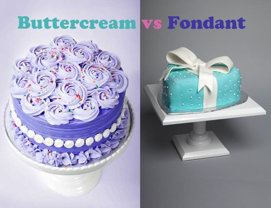 Graphic: Buttercream vs. Fondant