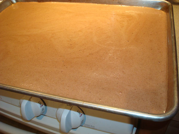 Baking Cake for a Yule Log Cake