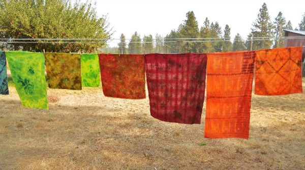Hand dyed textiles