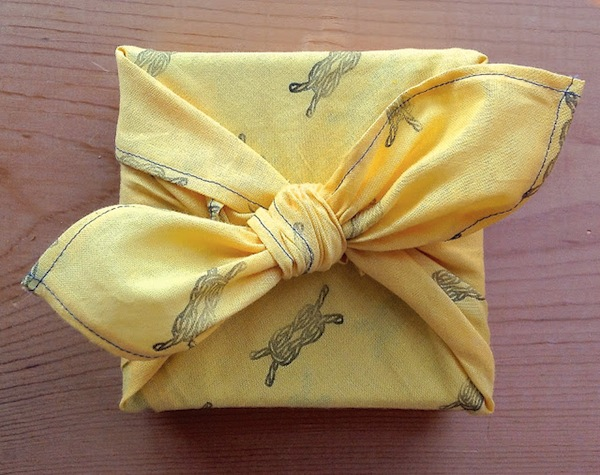 Present Wrapped in Patterned Fabric