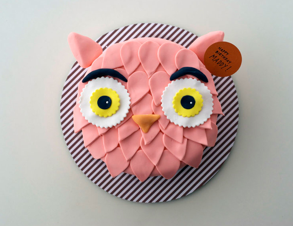 Pink Owl Cake, on Craftsy from Coco Cake Land