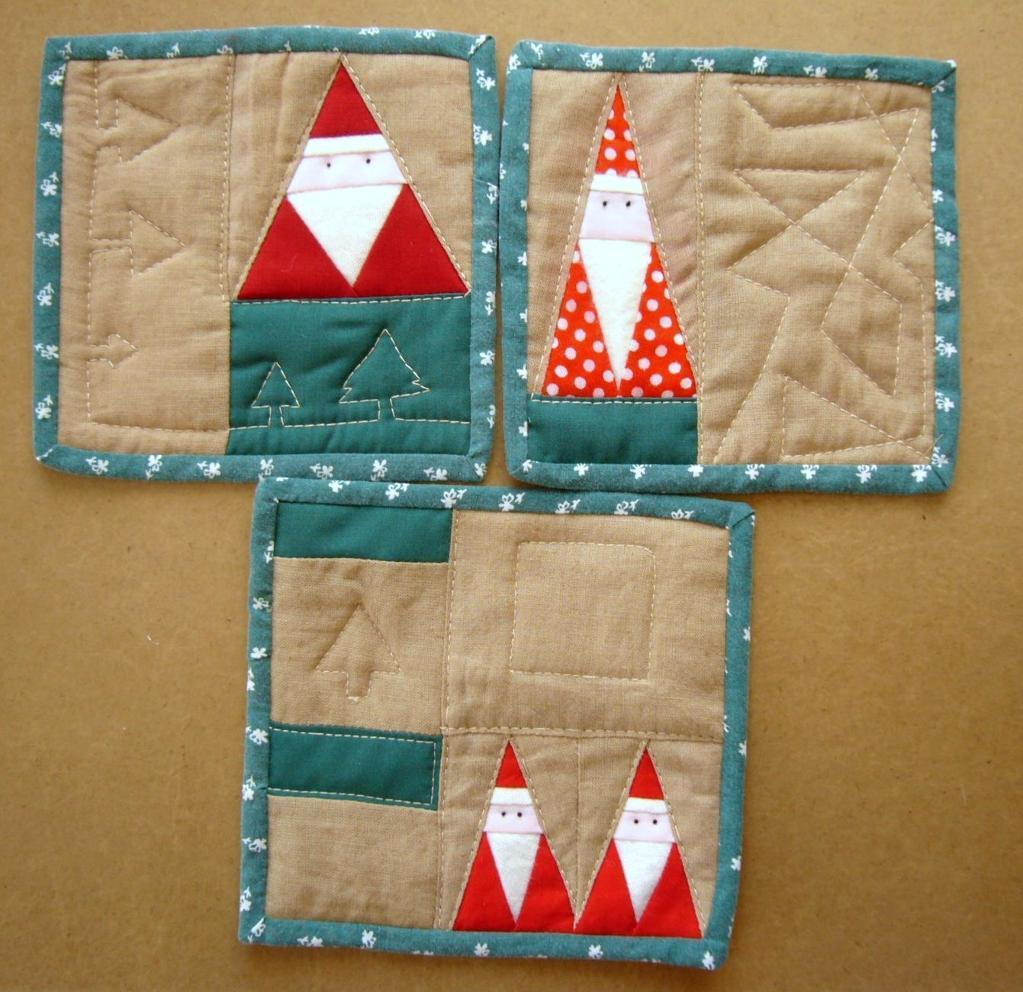 Santa Quilting Pattern - Free on Bluprint