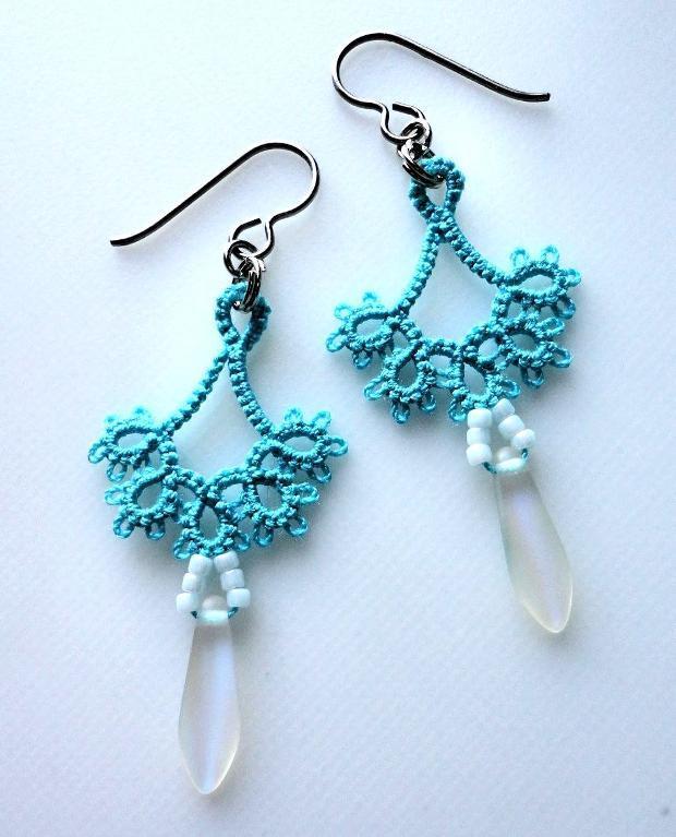 Blue Floret earrings