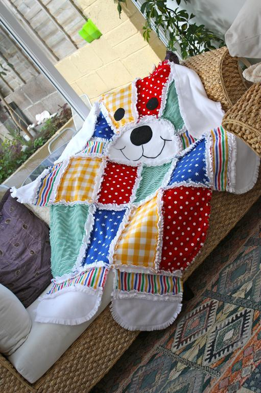 Patchwork Quilt Shaped as Dog, on Bluprint