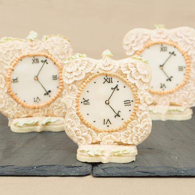 Decorated Cookies Featuring Lace Clocks - craftsy.com