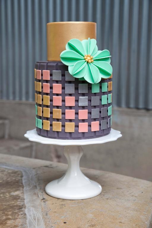 Layered Cake Featuring Fondant Decoration