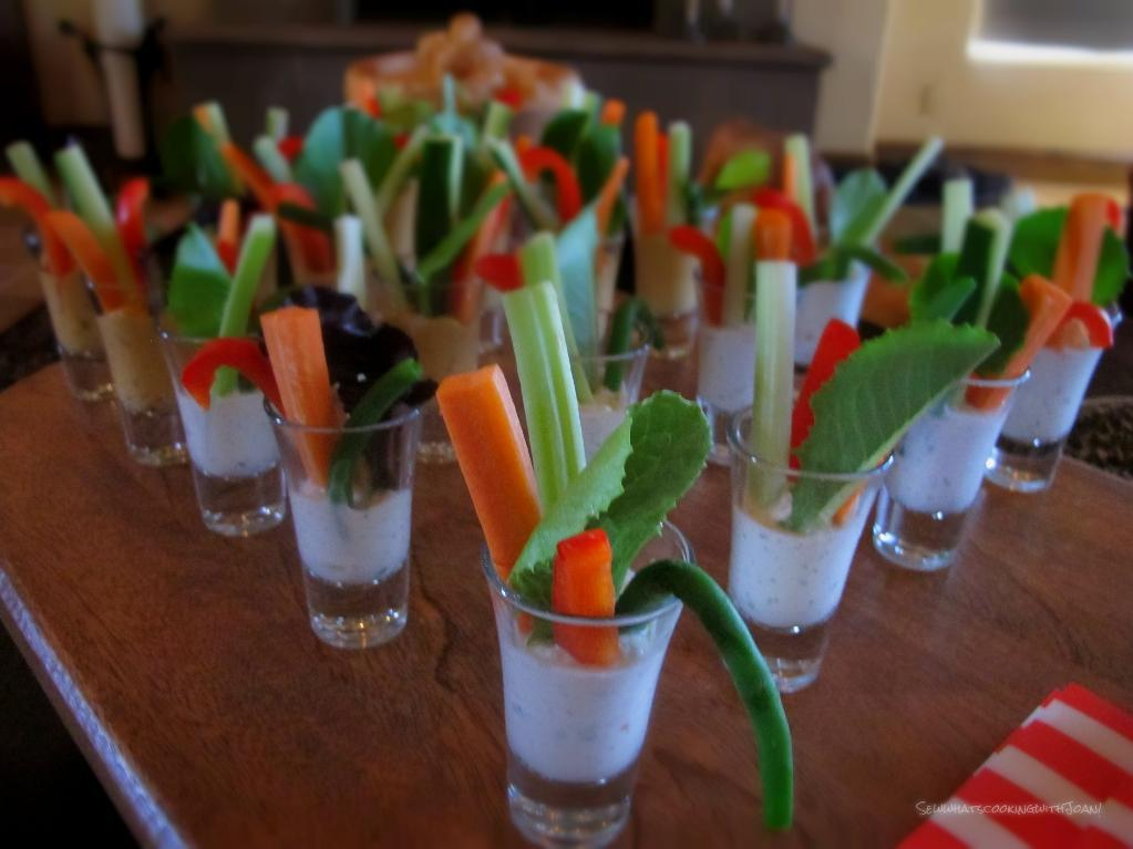 Glasses of Vegetable Shooters - craftsy.com