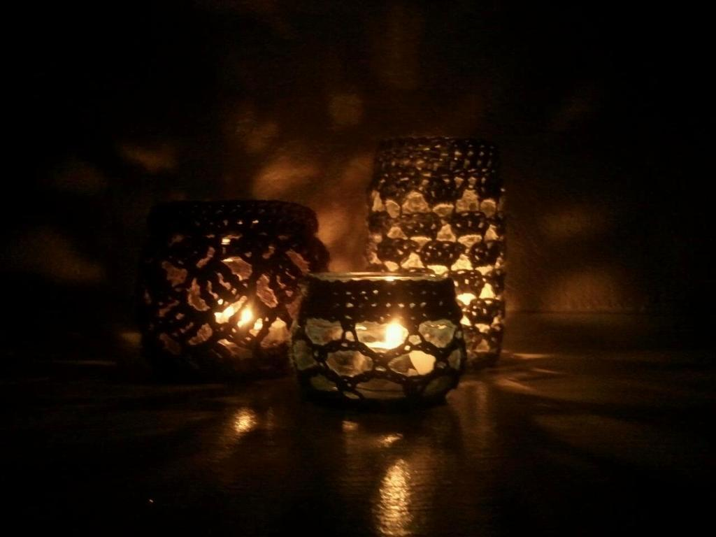 Lanterns with Crocheted Covers
