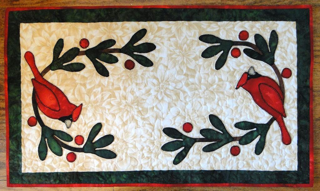 Quilted Cardinals Tablemat