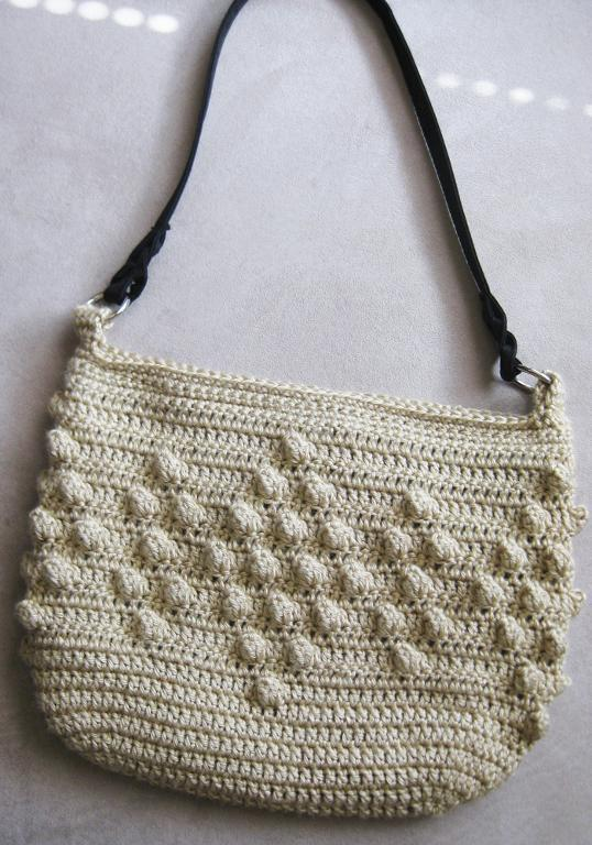 Crocheted Purse with Popcorn Stitches - Pattern on Craftsy