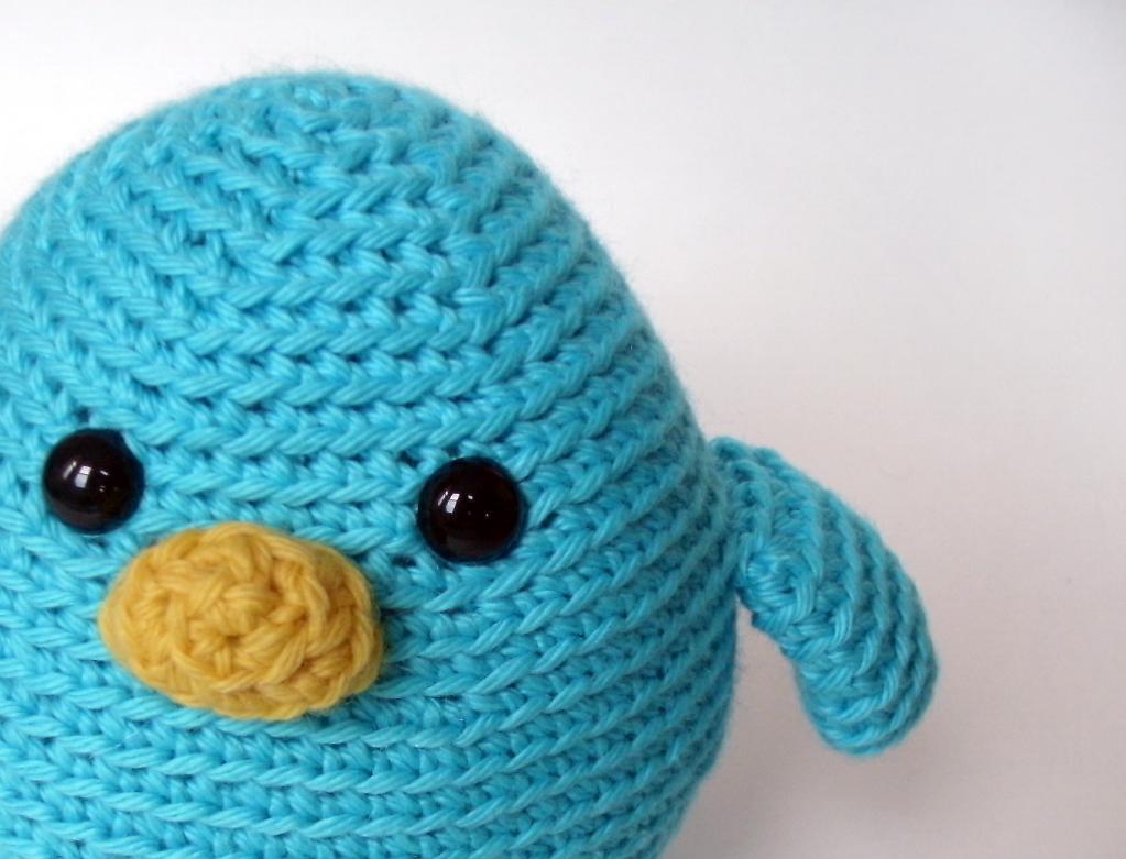 Crochet blue bird