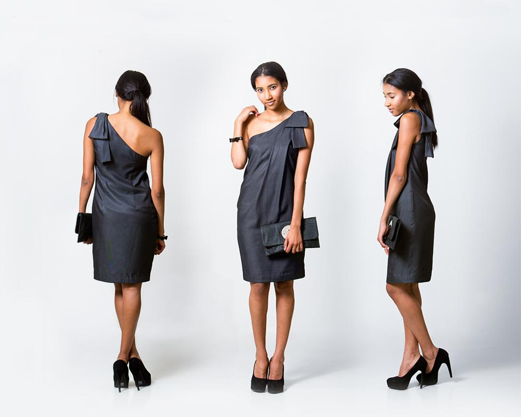 One Shouldered Bow Dress, Pattern on Bluprint