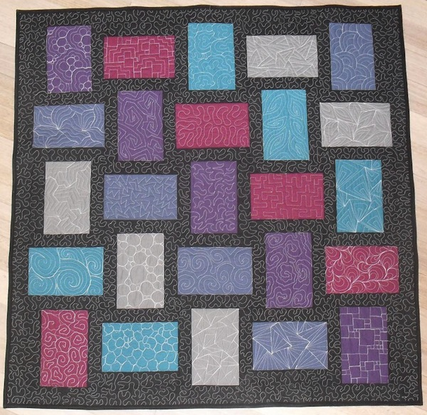 Quilt with Colorful Blocks - on Bluprint