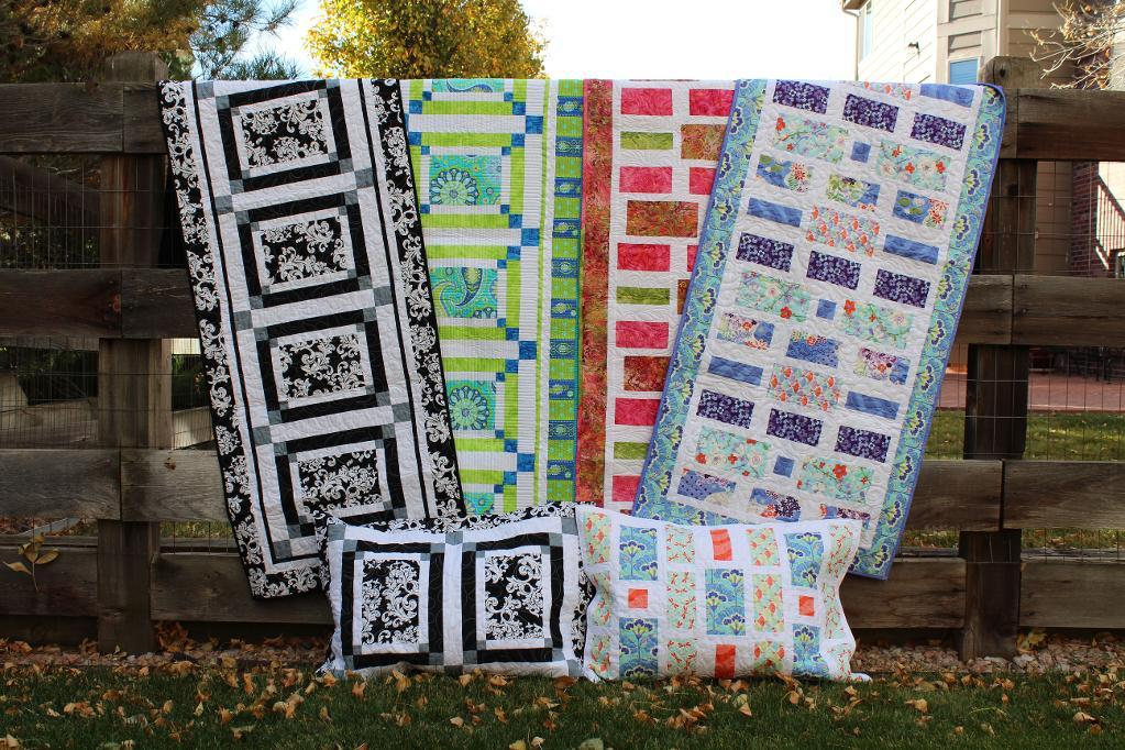 Variety of Quilted Pillow Shams and Bed Runners