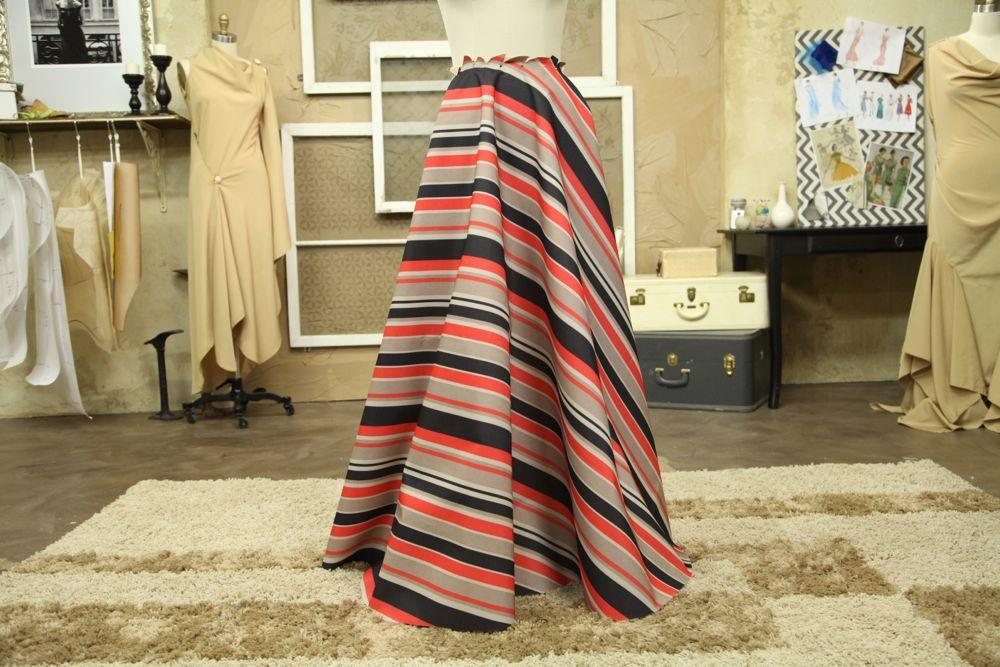 Striped Draped Skirt by Paul Gallo
