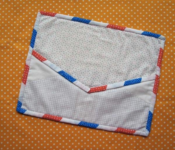 Airmail Binding Mug Rug - Pattern on Bluprint