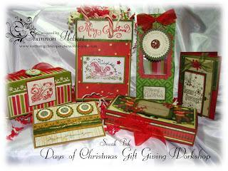 Pattern for Varitety of Holiday Gift Boxes