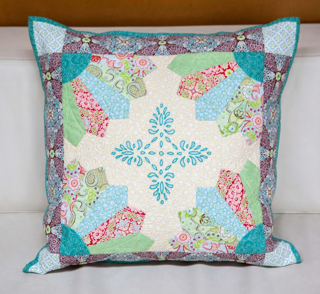 Photograph of Quilted Pillow, on Craftsy
