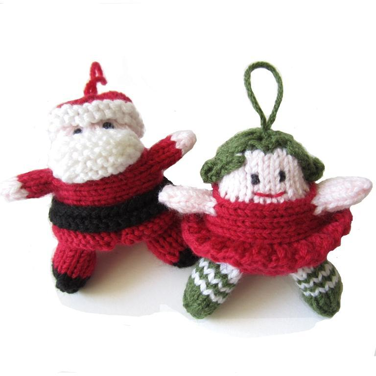Knitted Santa and fairy