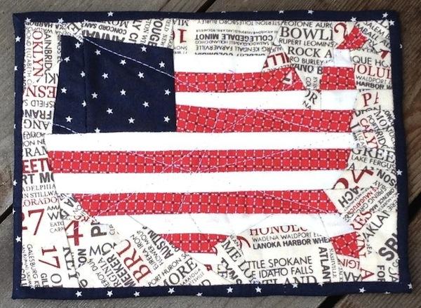 Bluprint: American Flag Mug Rug