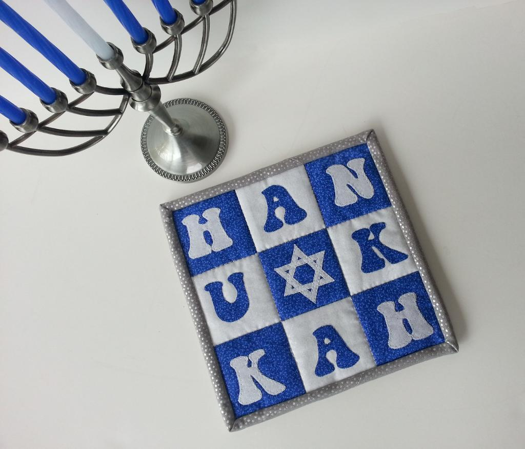 Hanukkah Mug Rug - Pattern on Craftsy.com
