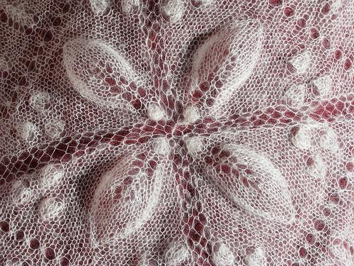 Lacy Poinsettia Shawl
