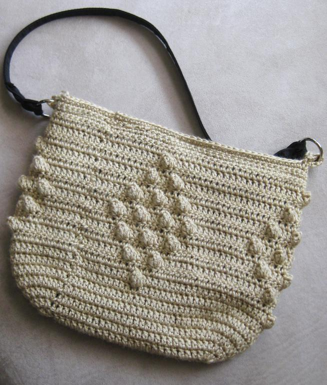 Crocheted Purse Featuring Popcorn Stitch