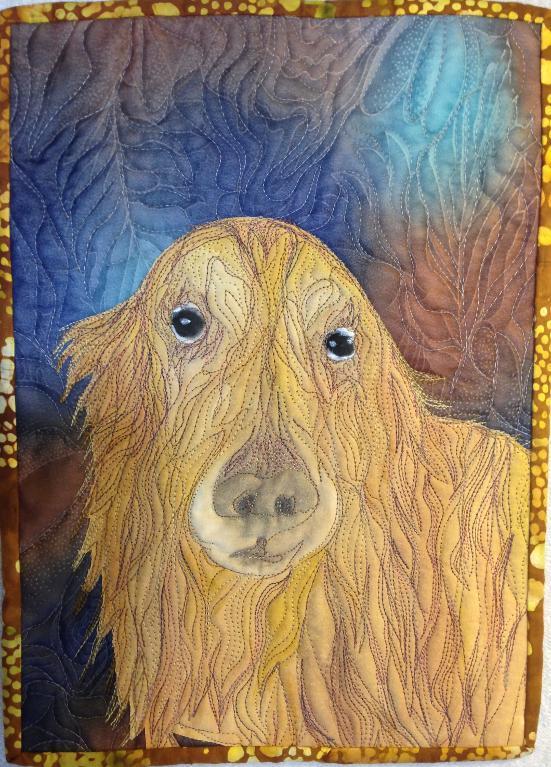 Quilt Featuring Golden Retriever, Pattern on Bluprint