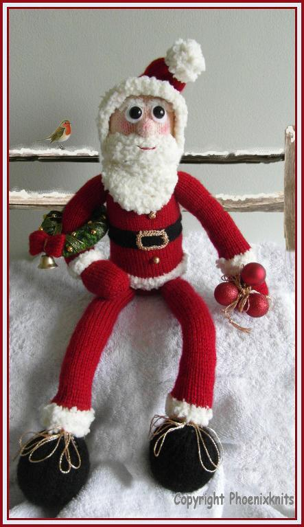 Knitted Santa Toy - Pattern on Bluprint