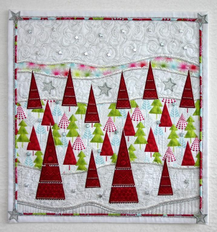 Quilt Featuring Red Trees, on Bluprint
