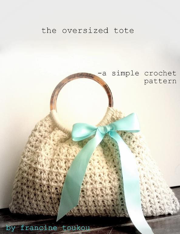 Oversized crochet tote Pattern