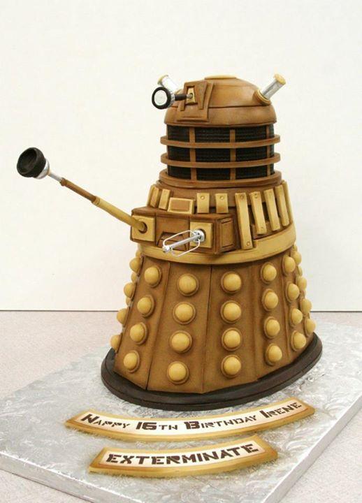 Dalek-Shaped Sculpted Cake