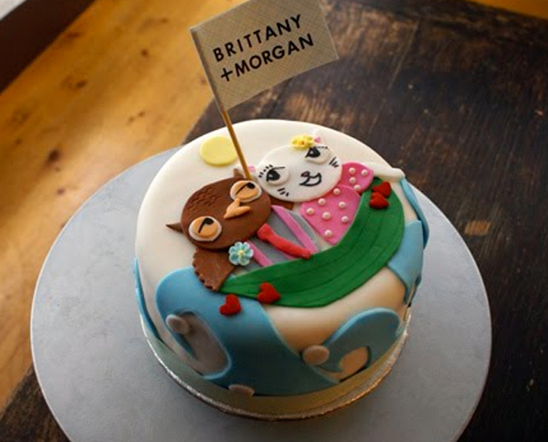 Owl and Kitty Cat Cake