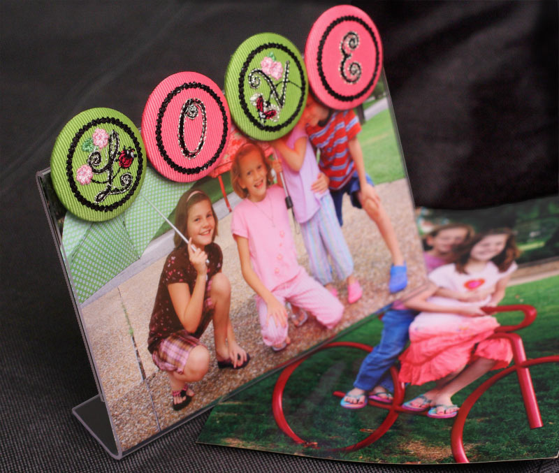 Button Photo Frame,  on Bluprint