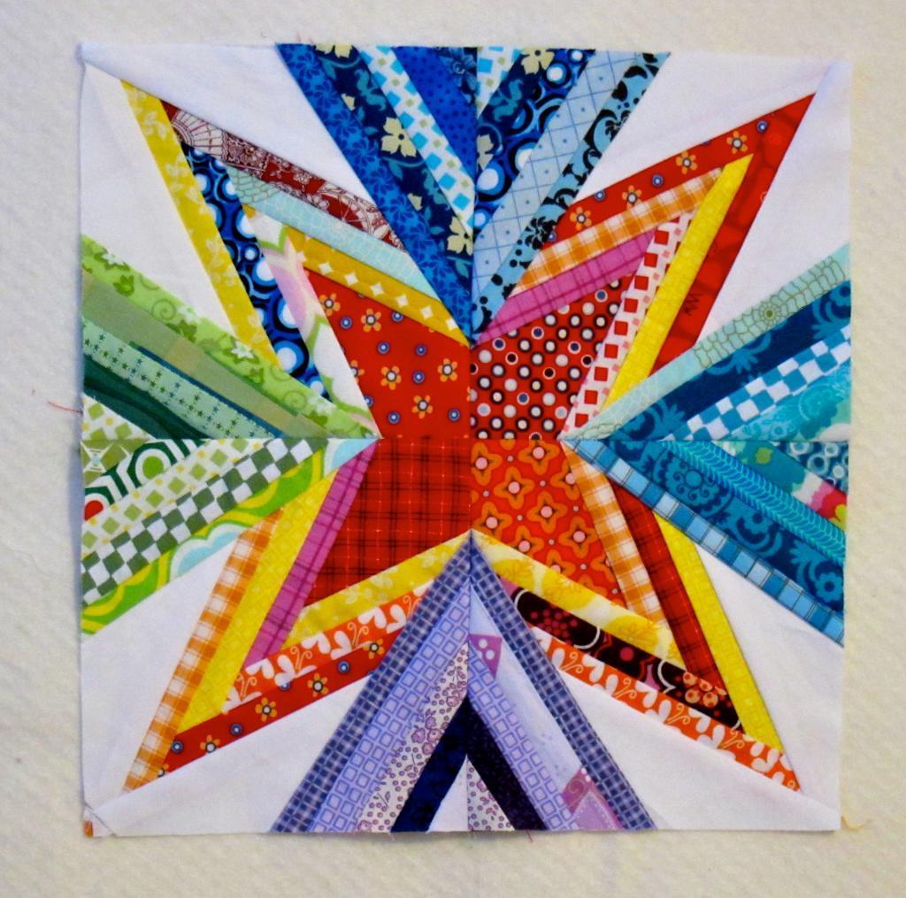 Scrap Attack Quilt Block, Pattern on craftsy.com