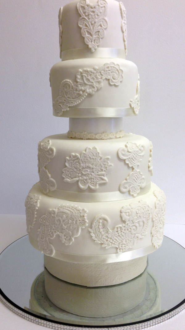 Tiered White Lace Cake - Bluprint Member Project