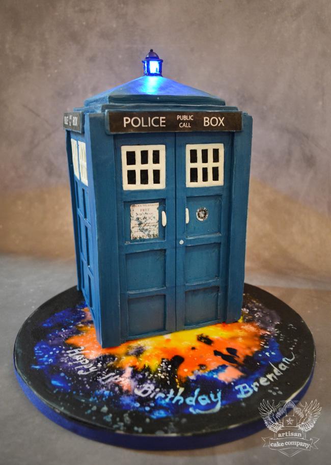 Police Box Shaped Cake - Doctor Who Cakes on Bluprint