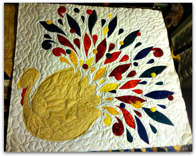 Colorful Turkey Quilt - Bluprint Thanksgiving Contest 2013 Winner