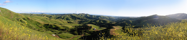 Panoramic Photo of the Rolling Hills