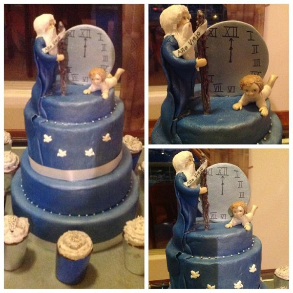 Bluprint.com Member Project - Father Time New Year's Cake