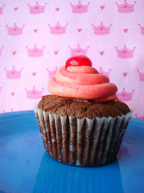 Chocolate Covered Cherry Cupcake - Bluprint.com
